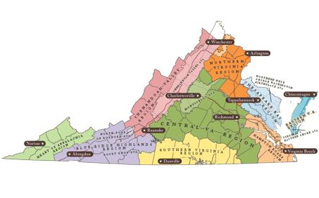 Virginia AVA's Virginia viticultural areas