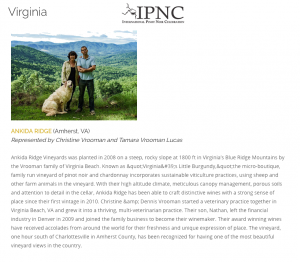 Ankida Ridge at IPNC Ankida Ridge Selected for IPNC 2016